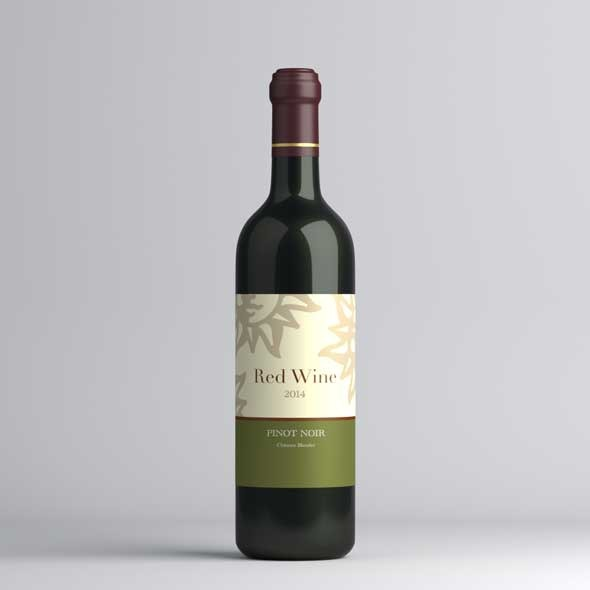 Red wine bottle - 3DOcean Item for Sale