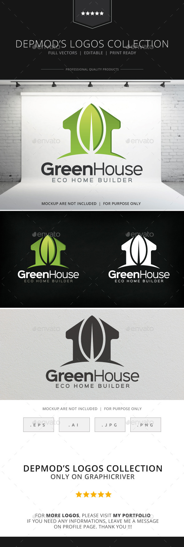 GraphicRiver Green House Logo 8873167