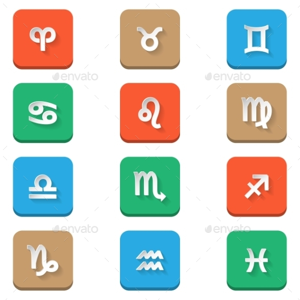 GraphicRiver Zodiac Icons 8873260