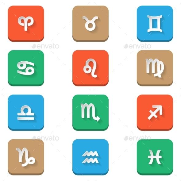 GraphicRiver Zodiac Icons 8873260