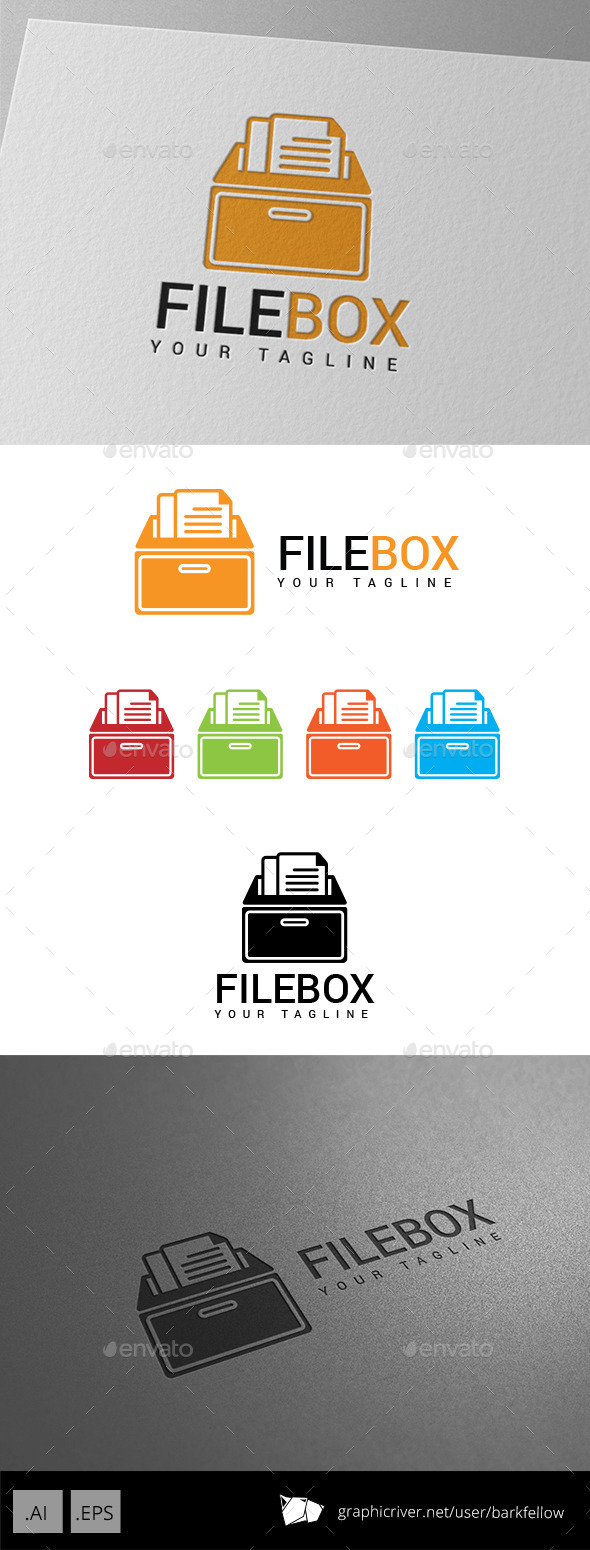 GraphicRiver File Document Box Logo 8873587
