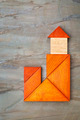 abstract tangram lighthouse - PhotoDune Item for Sale