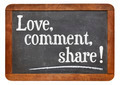 love, comment, share - PhotoDune Item for Sale