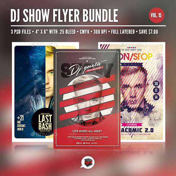 GraphicRiver Dj Flyer Bundle Vol 15 8874081