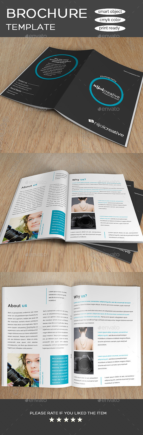 GraphicRiver Photography Product Services Bi-Fold Brochure 8874095