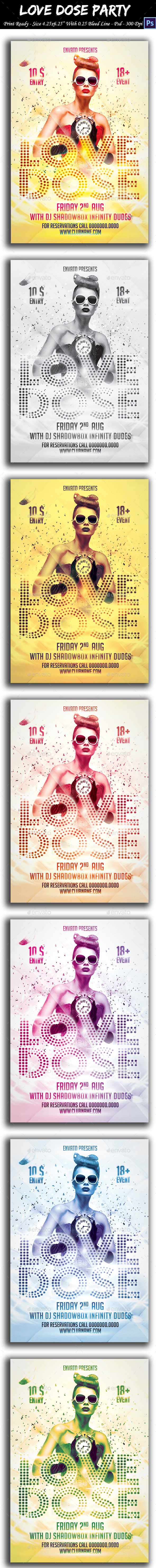 GraphicRiver Love Dose Party Flyer 8866510