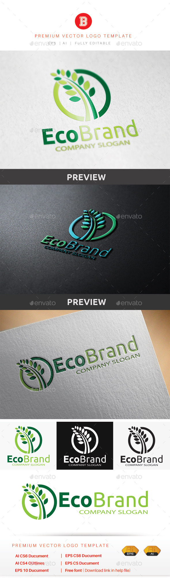 GraphicRiver Eco Brand 8874110