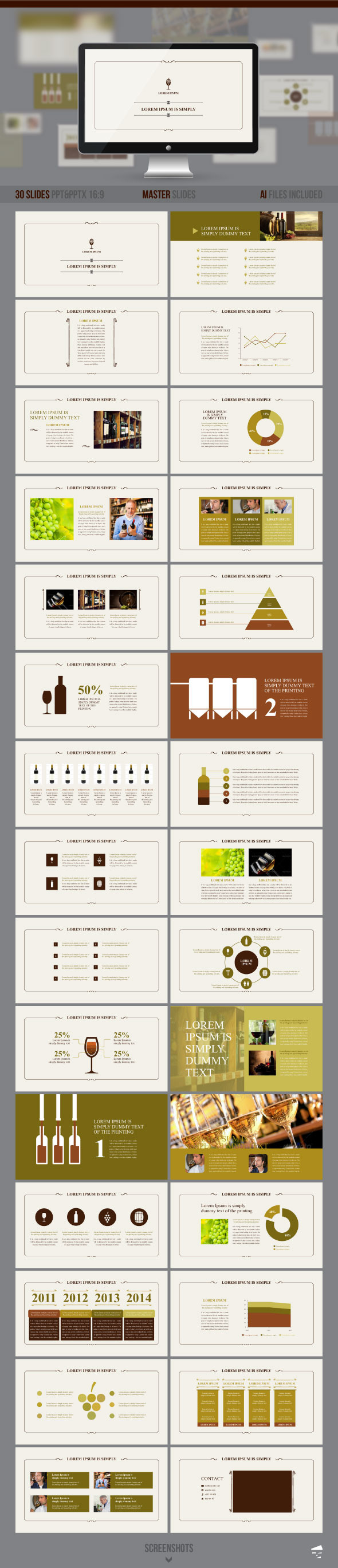 GraphicRiver Presentation of Wine 8791818