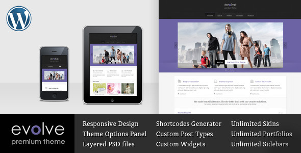 Evolve -  Responsive Multipurpose WordPress theme