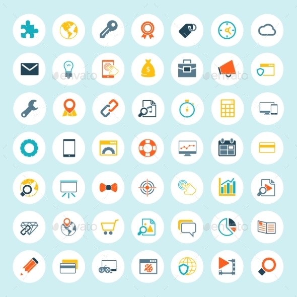 GraphicRiver Set of Seo Icons 8874542