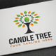 Candle Tree Logo - GraphicRiver Item for Sale