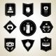 Boxing Emblems Set Black - GraphicRiver Item for Sale