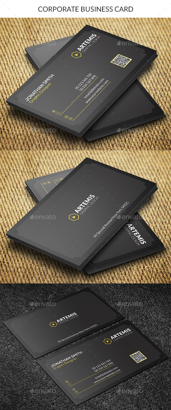 GraphicRiver Dark Business Card 8874775