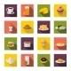 Breakfast Icons Flat - GraphicRiver Item for Sale