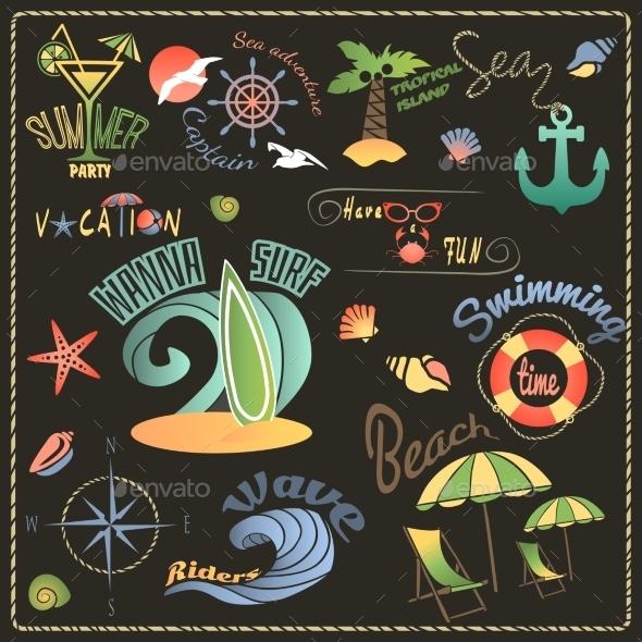GraphicRiver Travel Labels Set 8874828