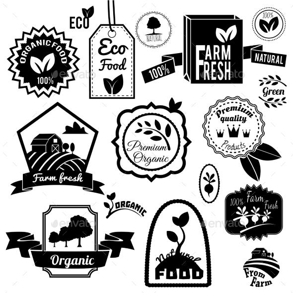 GraphicRiver Eco Labels Black 8874845