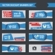Discount Banners Blue Origami Set - GraphicRiver Item for Sale