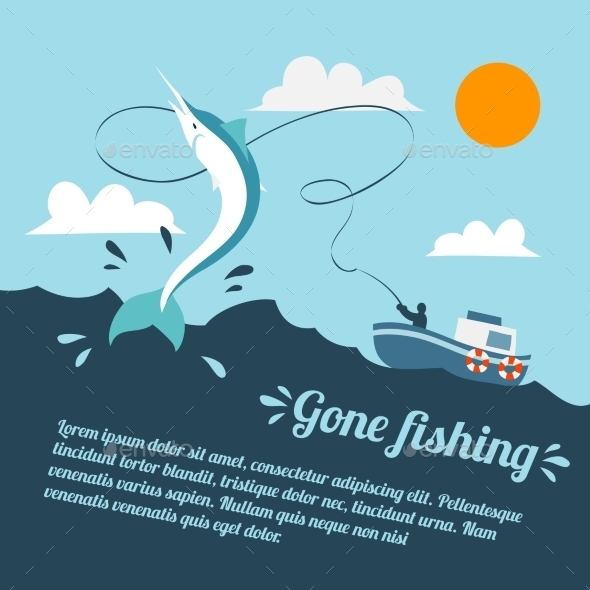 GraphicRiver Fishing Boat Poster 8874946