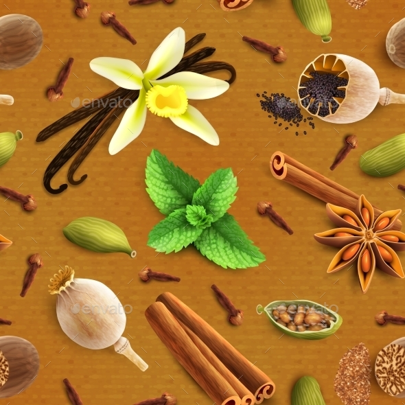 GraphicRiver Spices Seamless Pattern 8874973