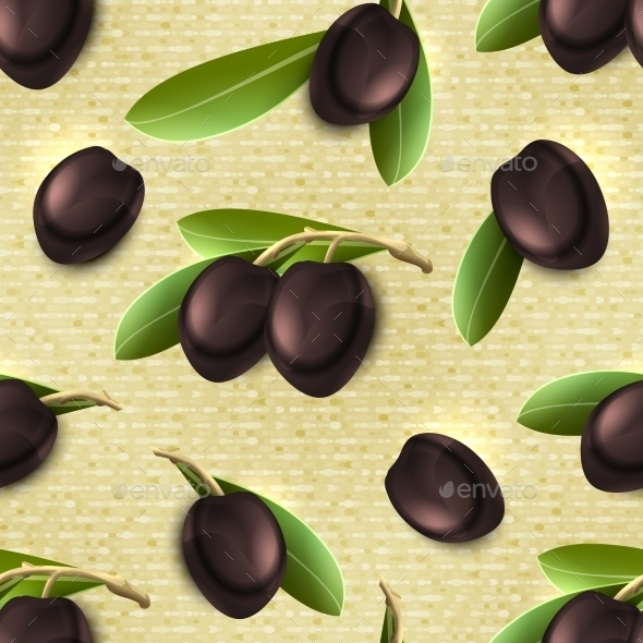 GraphicRiver Olive Seamless Pattern 8875001