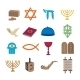 Judaism Icons Set - GraphicRiver Item for Sale