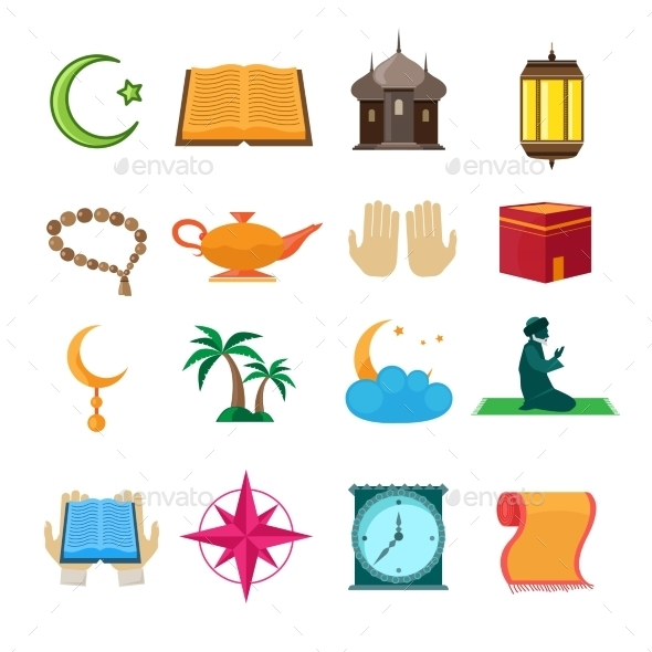 GraphicRiver Islam Icons Set 8875009
