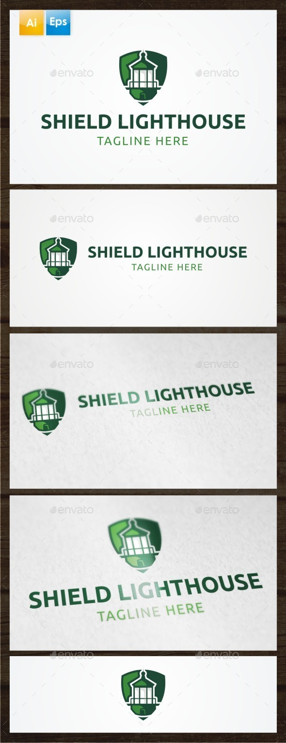 GraphicRiver Shield Lighthouse Logo Template 8874541