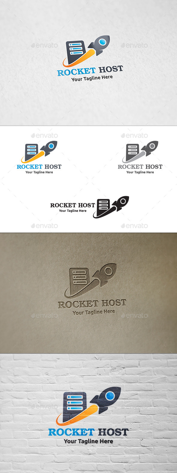GraphicRiver Rocket Host Logo Template 8875145