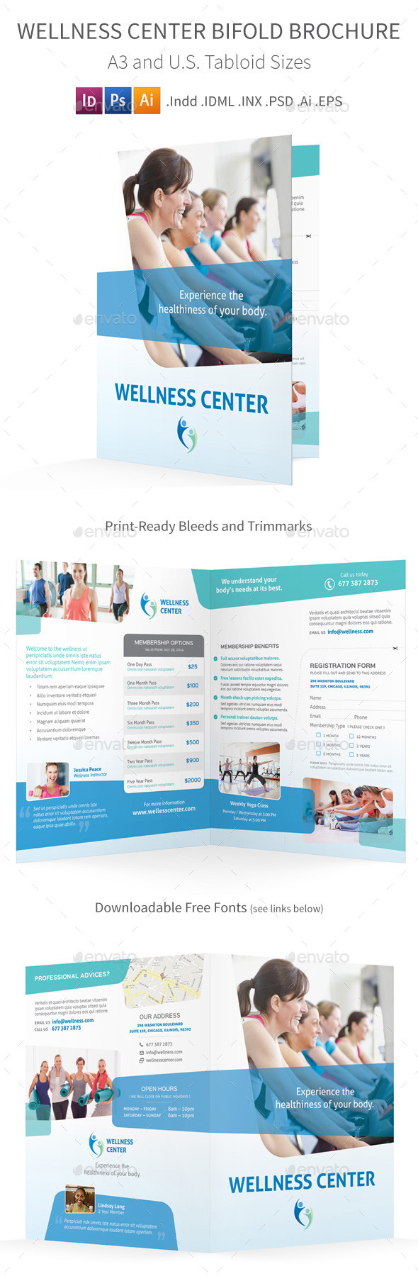 GraphicRiver Wellness Center Bifold Halffold Brochure 8875587
