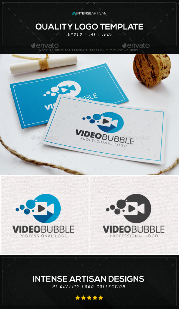 GraphicRiver Video Bubble Logo Template 8875589