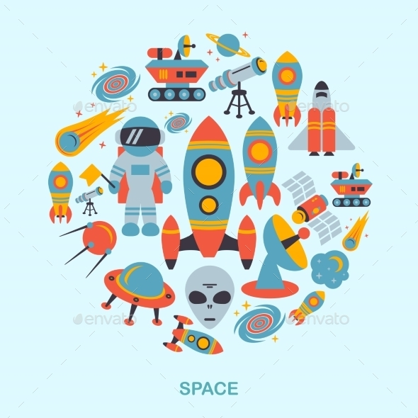 GraphicRiver Space Icons 8875631