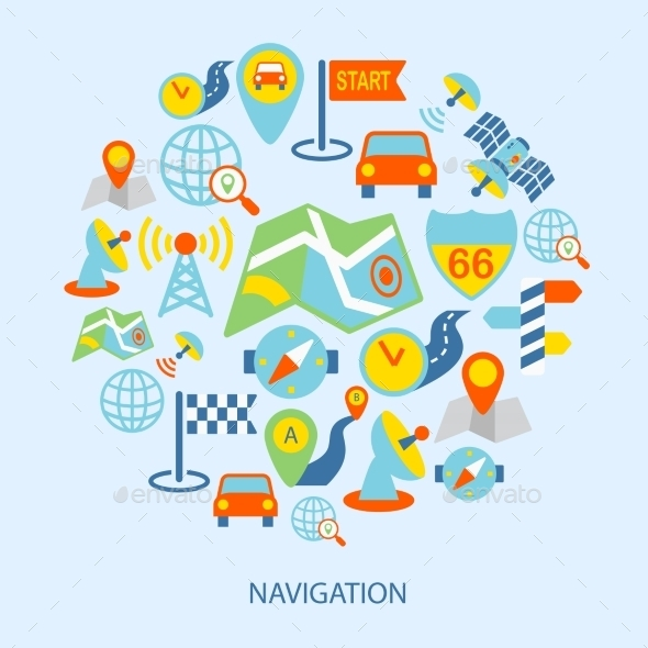 GraphicRiver Mobile Navigation Icons 8875635