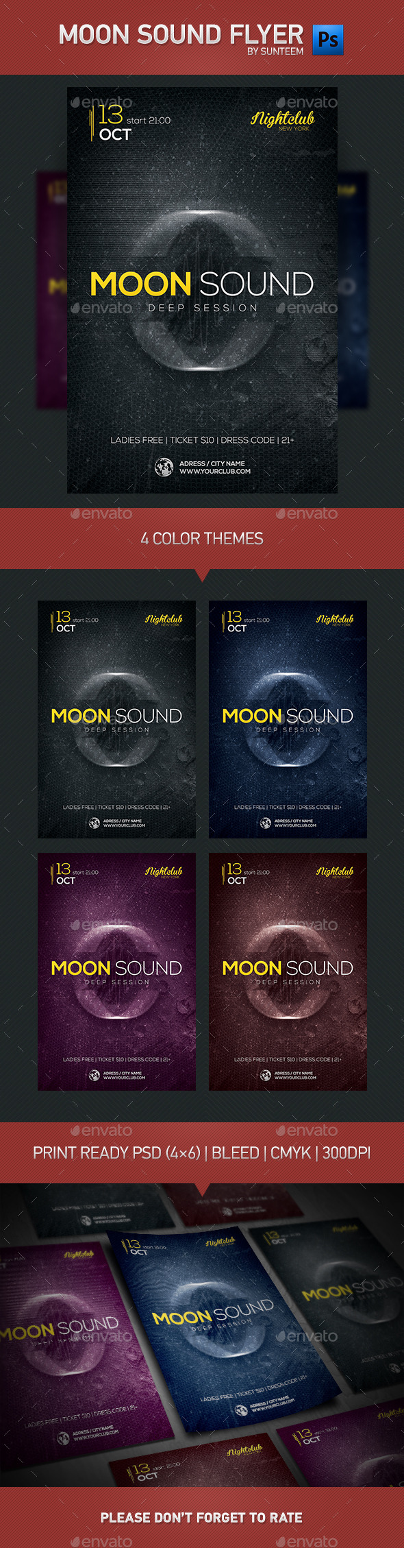 GraphicRiver Moon Sound Flyer Template 8875743