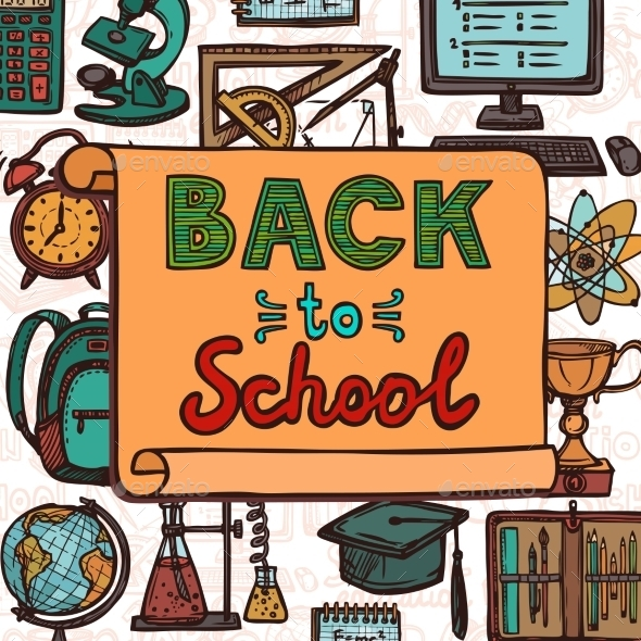 GraphicRiver Back to School Poster 8875758