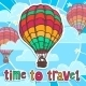 Travel Poster with Balloon - GraphicRiver Item for Sale