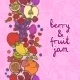Fruits and Berries Vertical Border  - GraphicRiver Item for Sale