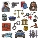 Law Icons - GraphicRiver Item for Sale