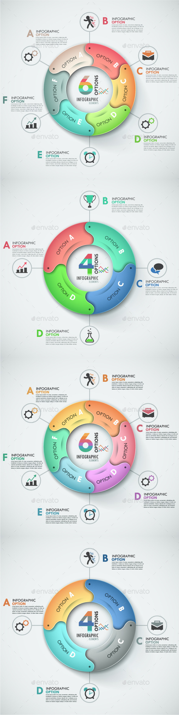 GraphicRiver Modern Infographic Options Banner 4 Items 8875926