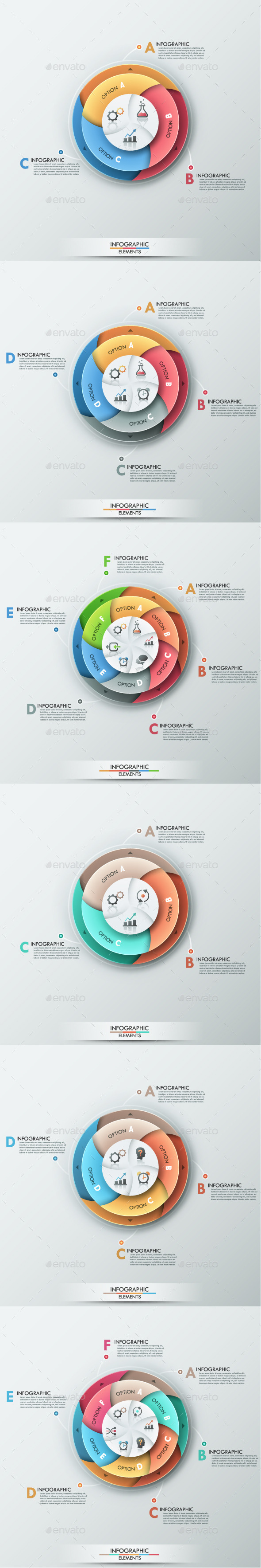 GraphicRiver Modern Infographic Options Banner 6 Items 8876154