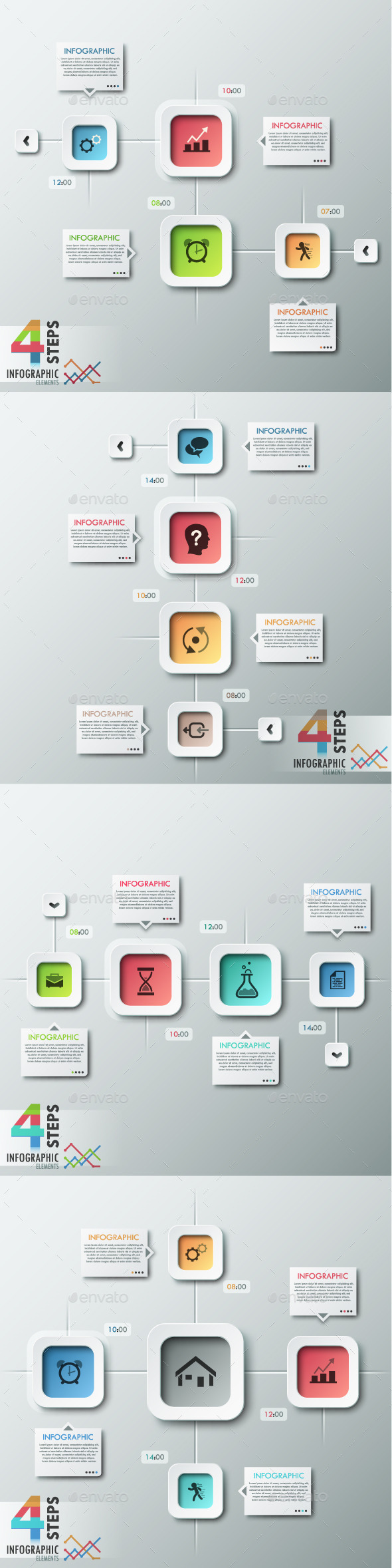 GraphicRiver Modern Infographic Options Banner 4 Items 8876225