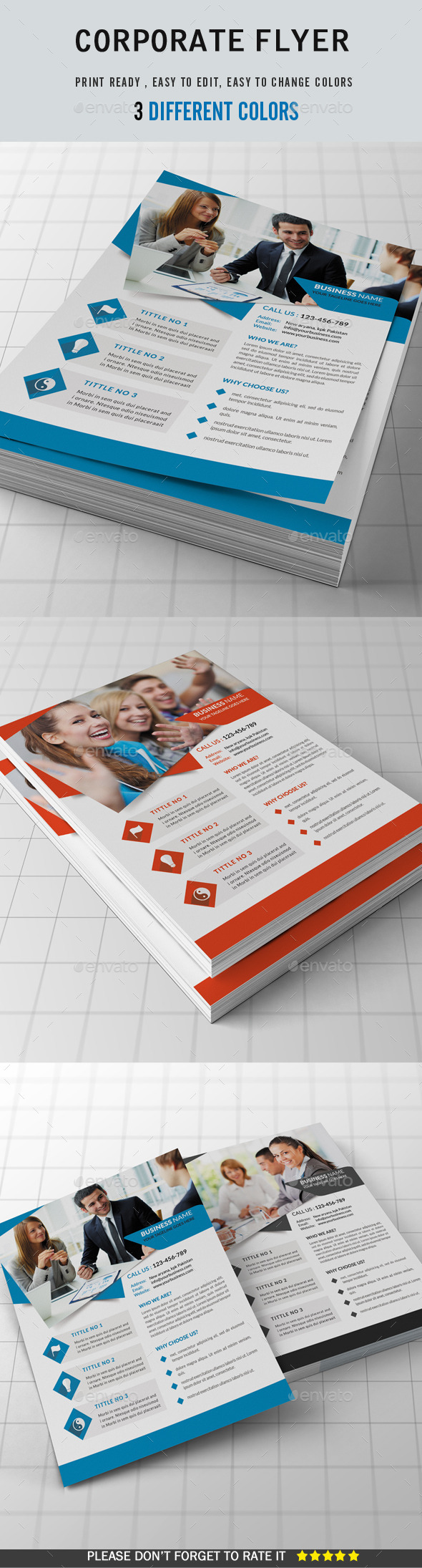 GraphicRiver Corporate Flyer 8876265