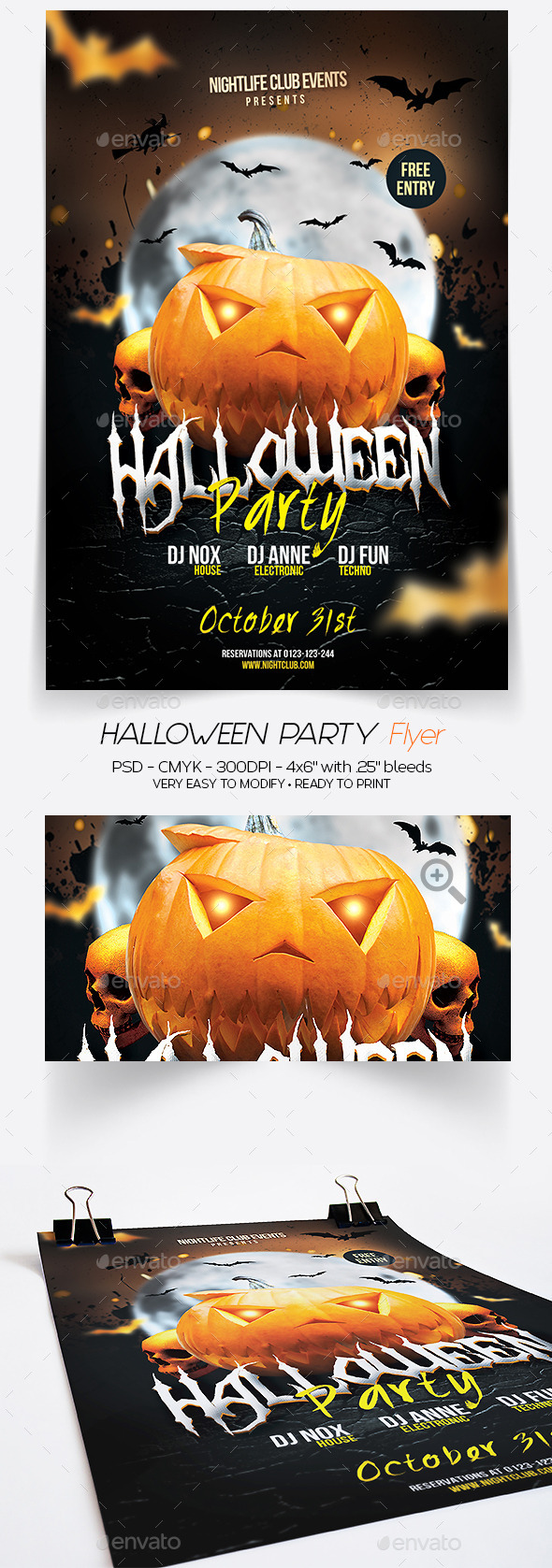 GraphicRiver Halloween Party Flyer 8876359