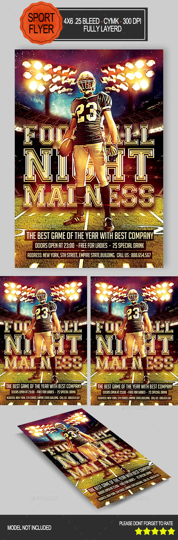 GraphicRiver Football Night Flyer 8876441