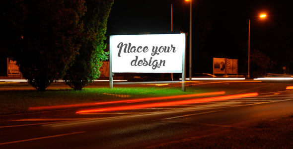 VideoHive Billboard Ad Mock Up on Highway 8876789
