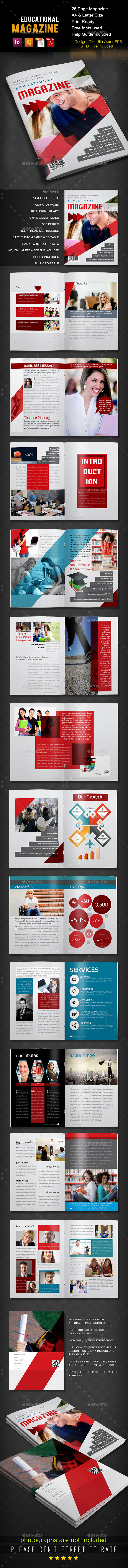 GraphicRiver Educational Magazine Template 8877295