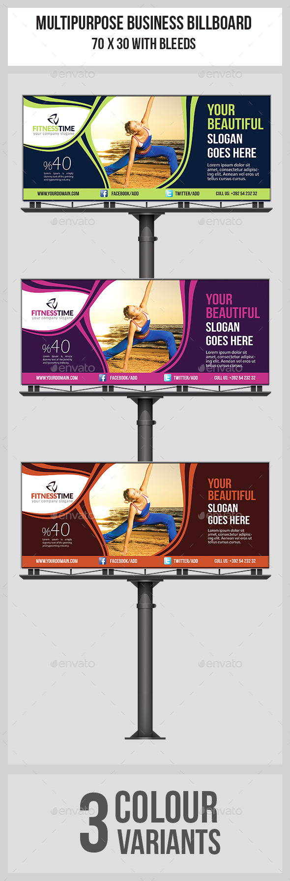 GraphicRiver Fitness Billboard Template 8878914