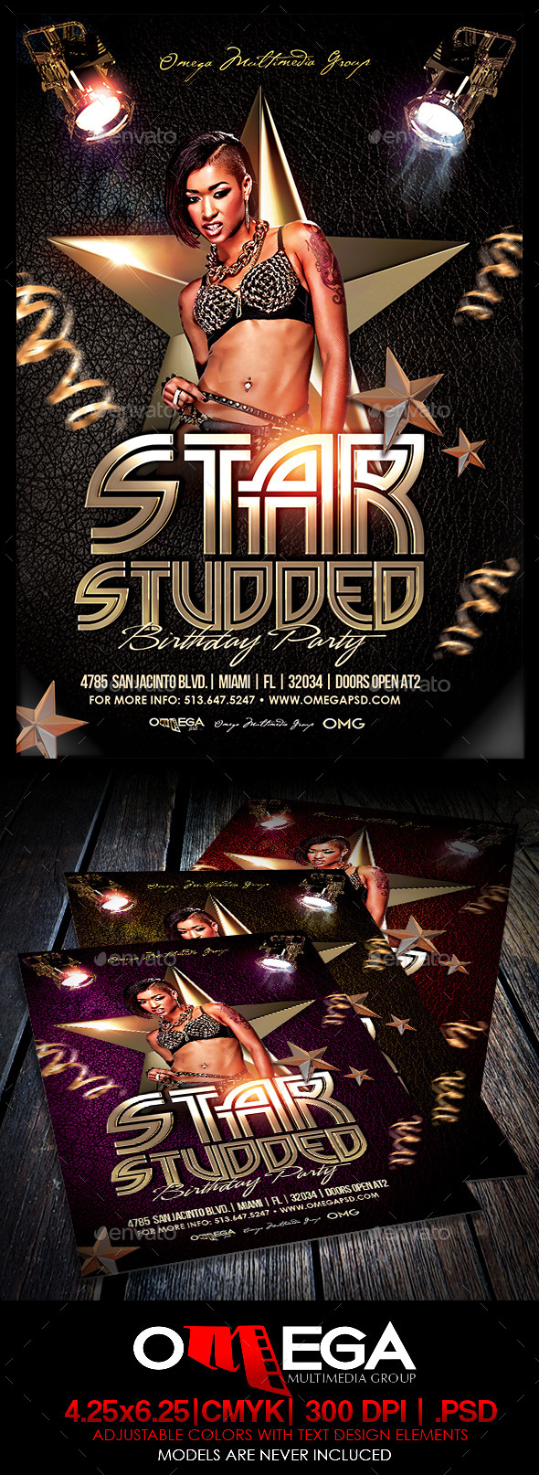 GraphicRiver Star Studded Birthday 8878936