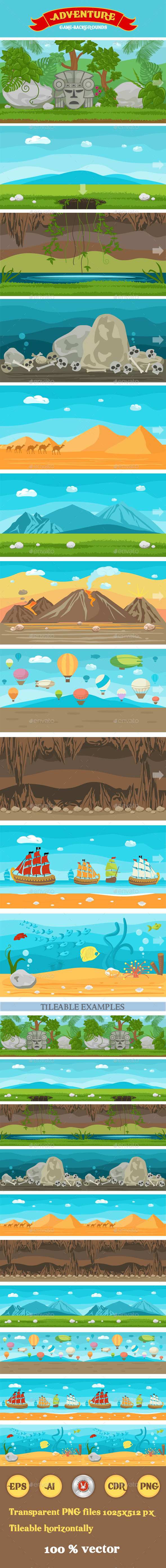 GraphicRiver 11 Adventure Themed Game Backgrounds 8811170