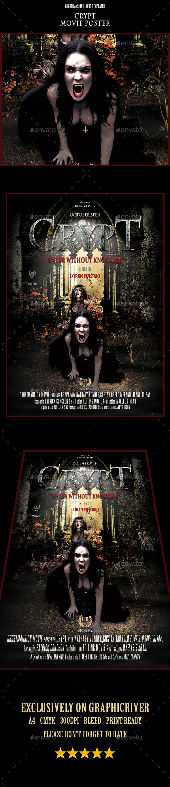 GraphicRiver Crypt Movie Poster 8876334
