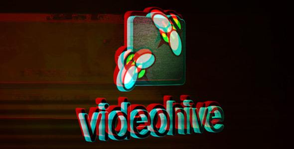 3D Glitch Logo Opener